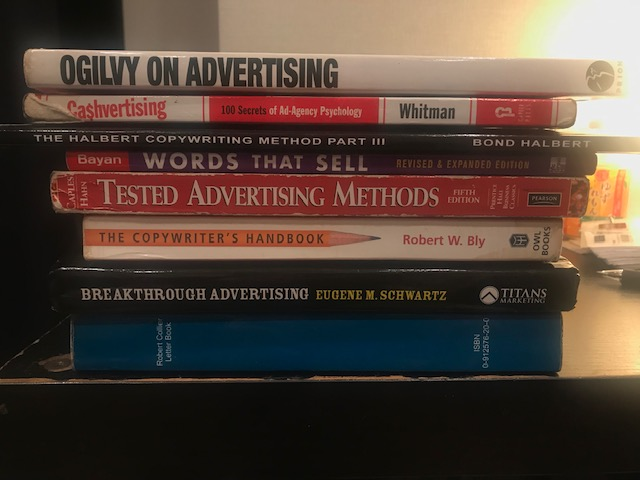 My copywriting book collection.
